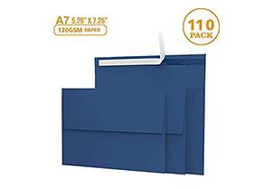 110 5x7 Navy Blue Invitation Envelopes 2