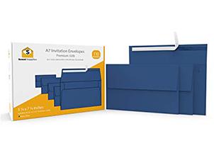 110 5x7 Navy Blue Invitation Envelopes 6