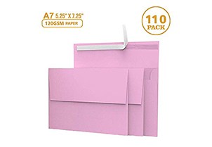 110 5x7 Pink Invitation Envelopes 1