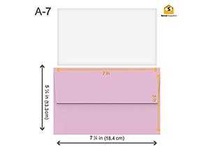 110 5x7 Pink Invitation Envelopes 3