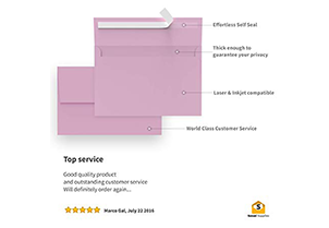 110 5x7 Pink Invitation Envelopes