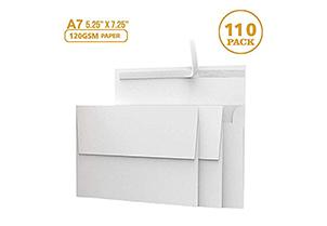 110 5x7 White Invitation Envelopes 6