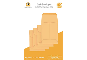 Cash Envelopes Kraft 3 1