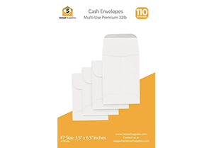 Cash Envelopes White 3 1