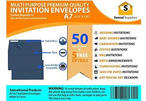 Navy Blue Invitation Envelopes 7