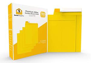 Self-Seal Catalog Envelopes, for Mailing, Organizing and Storage, Golden Brown Kraf 4