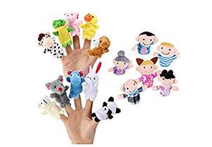 Sensei Play 'n' Learn Finger Family Puppets 1