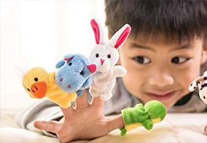 Sensei Play 'n' Learn Finger Family Puppets 6