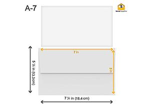 White Gum Seal Invitation Envelopes - A7 1