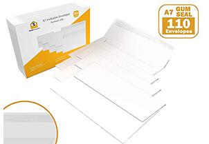 White Gum Seal Invitation Envelopes - A7 2