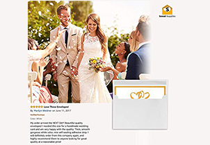 White Gum Seal Invitation Envelopes - A7 3