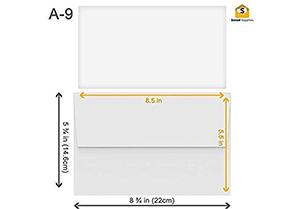 White Invitation Envelopes - A9 6