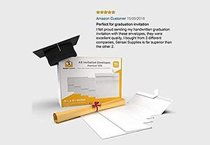 White Invitation Envelopes - A9