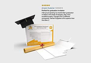 White RSVP Small Envelopes - A1 3