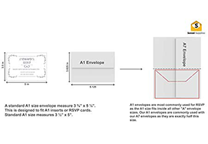White RSVP Small Envelopes - A1 5